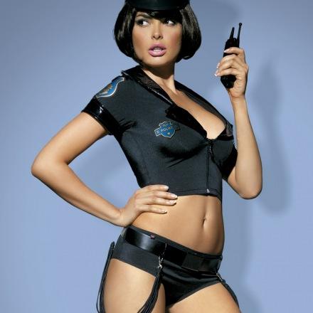 Costume police set 5 pièces couleur noir